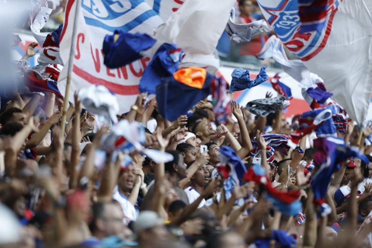 Bahia tem a sétima melhor média do Brasilierão, com 25.700 pessoas por jogo - Foto: Adilton Venegeroles | Ag. A TARDE