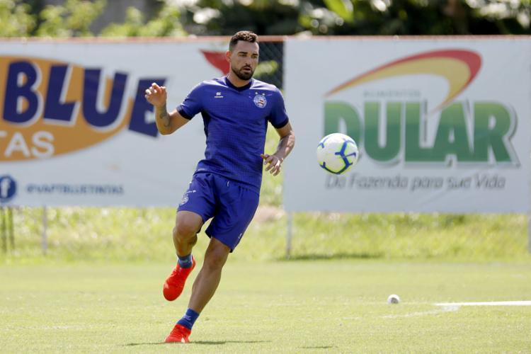 Gilberto pode aparecer no time titular contra os mineiros - Foto: Felipe Oliveira l EC Bahia