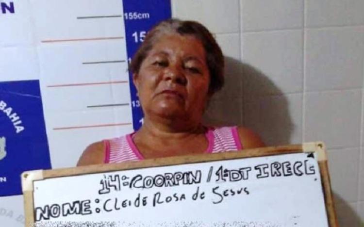 Cleide Rosa de Jesus foi presa em flagrante - Foto: Reprodução   Calila Notícias