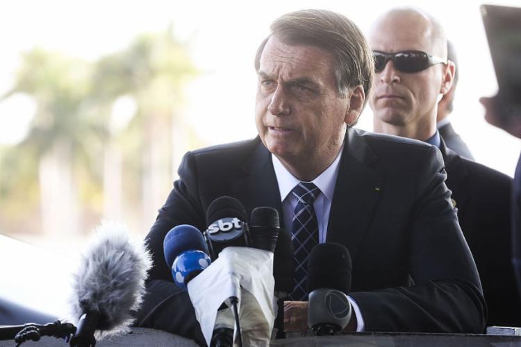 O presidente Jair Bolsonaro criticou edital voltado para séries com temas LGBT - Foto: Antonio Cruz l Agência Brasil
