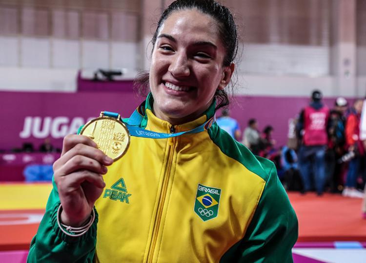 Mayra Aguiar conquistou a medalha de ouro do judô na categoria até 78 kg - Foto: Pedro Ramos | rededoesporte.gov.br