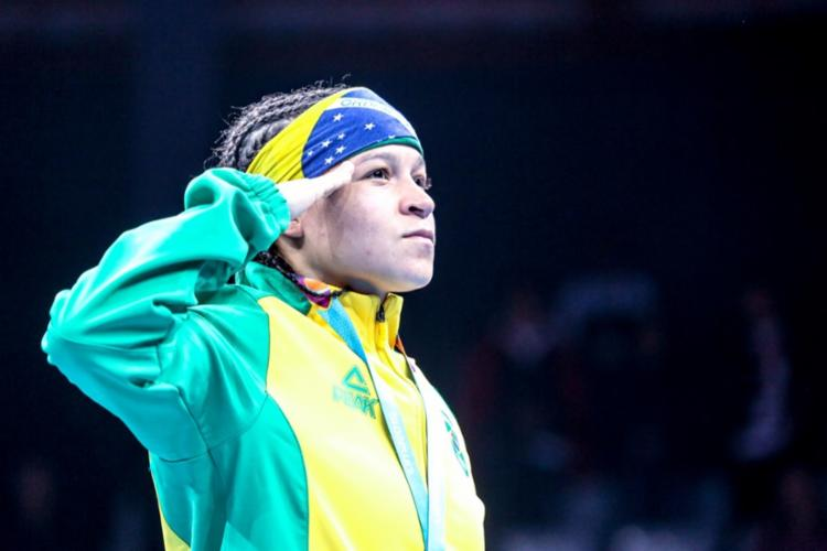Bia mostrou força e concentração desde o primeiro round - Foto: Pedro Ramos | rededoesporte.gov.br