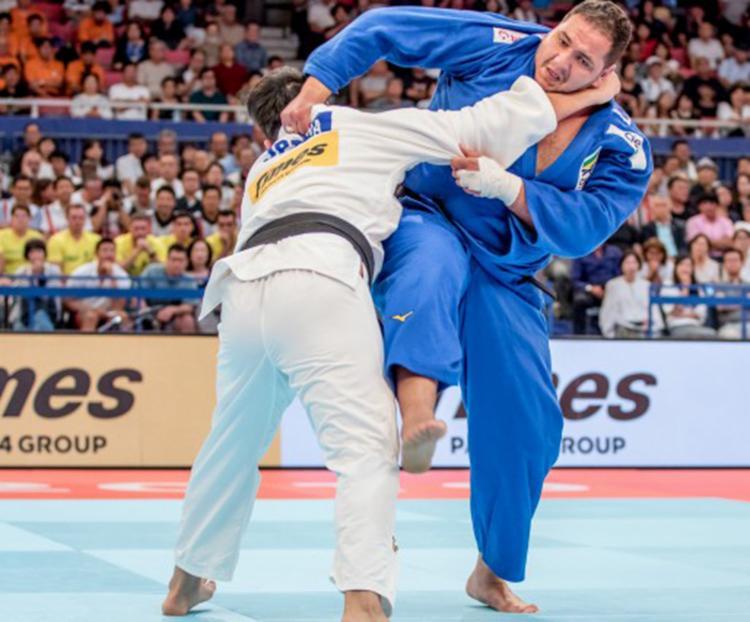 David Moura chegou ao bloco final da competição, mas não tive êxito - Foto: Rafael Burza | CBJ