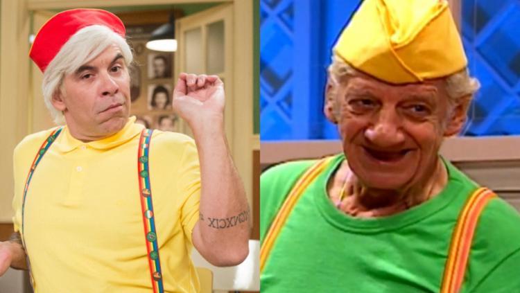 O ator interpreta o personagem eternizado pelo humorista Costinha - Foto: Reprodução