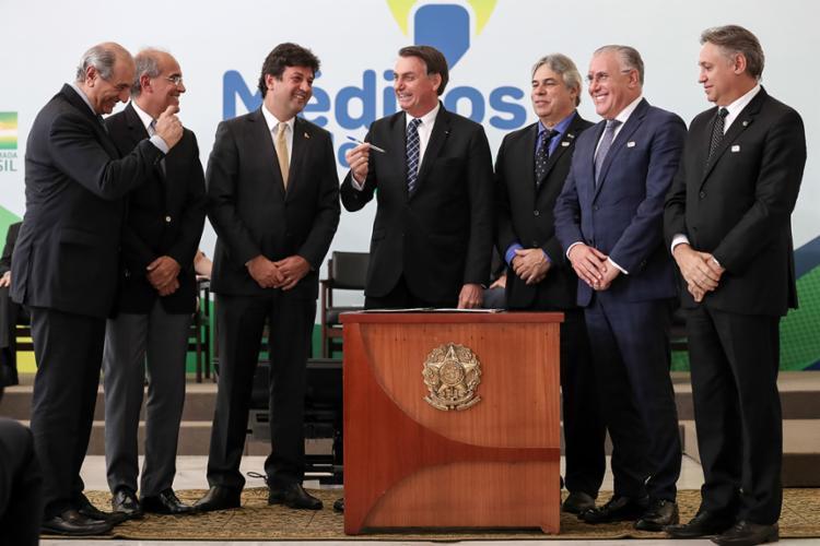 Presidente participou da cerimônia de lançamento do programa 'Médicos pelo Brasil