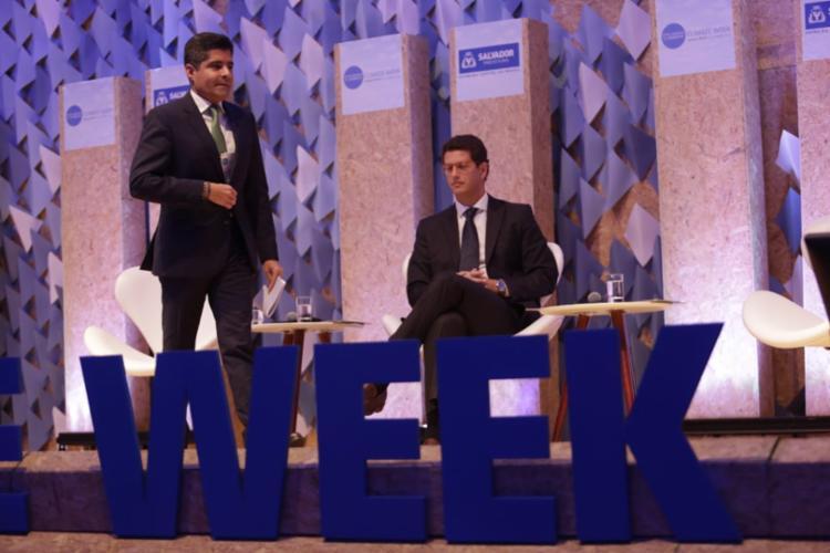 Abertura do evento contou com ministro do Meio Ambiente, Ricardo Salles, e o prefeito ACM Neto - Foto: Raul Spinassé I Ag. A TARDE