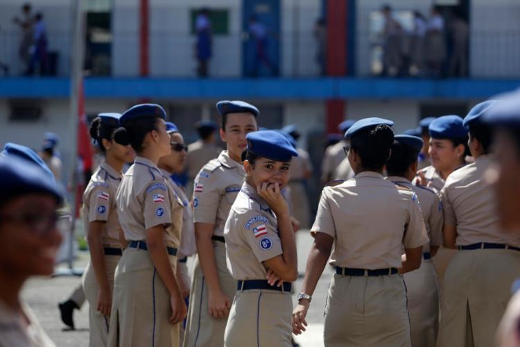 No Colégio da Polícia Militar, em Salvador, há