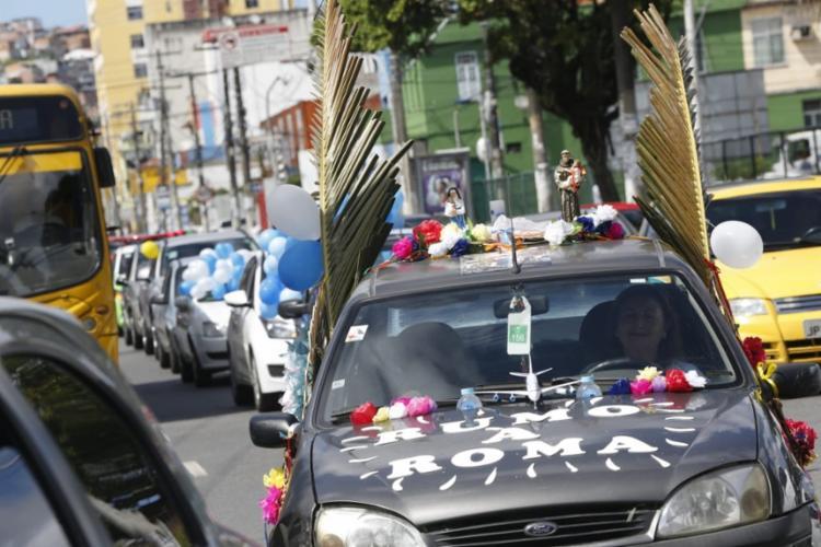 Tereza Ribeiro, 73, aproveitou para comemorar a canonização de Irmã Dulce, de quem foi beata