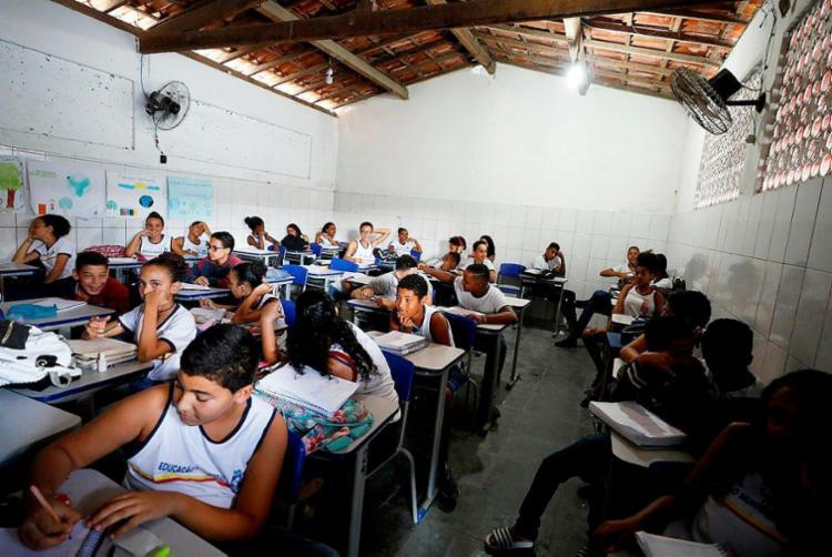Escola Municipal Luís Eduardo Maron de Magalhães teve a melhor nota do Ideb em Santo Antônio - Foto: Joá Souza | Ag. A TARDE