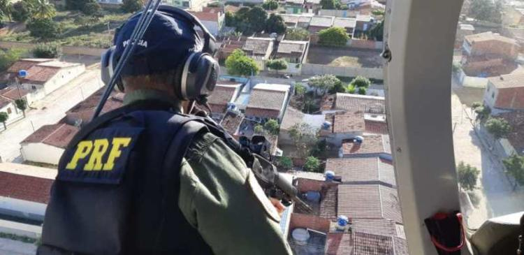 Diligências tiveram o apoio de helicóptero da Base de Operações Aéreas - Foto: Divulgação   PRF