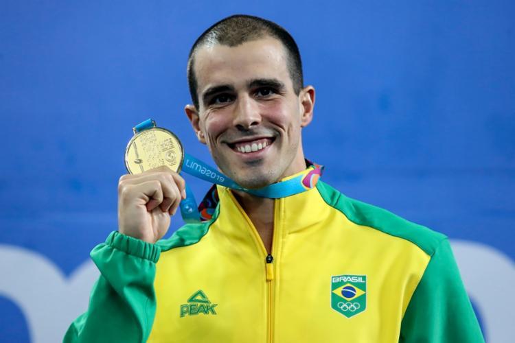 Fratus confirmou o seu favoritismo nos 50m e venceu a prova com a marca de 21s61 - Foto: Wander Roberto I COB