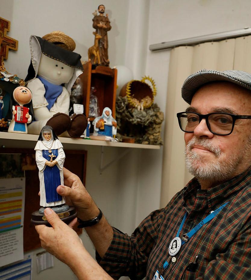 O museólogo Osvaldo Gouveia coordena o setor de cultura e memória da Osid articulado às ações para a divulgação da trajetória da religiosa