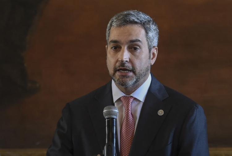 O presidente Mario Abdo Benítez é investigado na CPI - Foto: Norberto Duarte | AFP