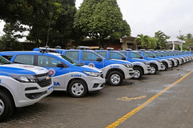 Os equipamentos visam o reforço do policiamento preventivo e ostensivo de 88 municípios da região em uma ação cujo investimento foi de R$19 milhões. - Foto: Camila Souza_GOVBA