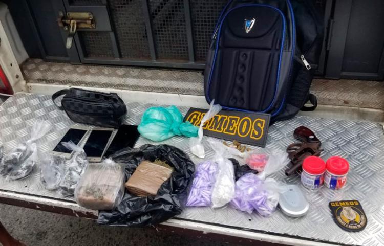Todo o material apreendido foi levado para o Grupo Especial de Repressão a Roubos em Coletivos (Gerrc) - Foto: Divulgação | SSP
