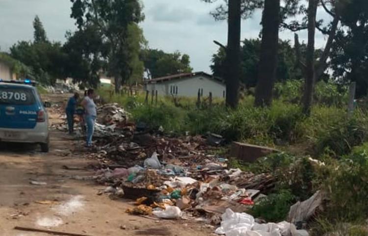 Corpo foi encontrado em terreno baldio, no bairro Monte Castelo - Foto: Reprodução | Teixeira Hoje