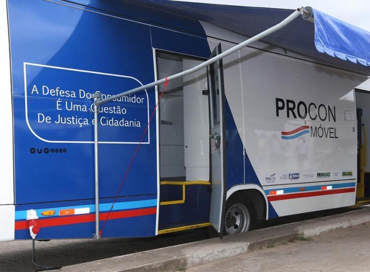 O Procon Móvel estará no estacionamento da Arena entre os dias 27 e 30 de agosto, sempre das 9h às 16h - Foto: Elói Corrêa | GOVBA