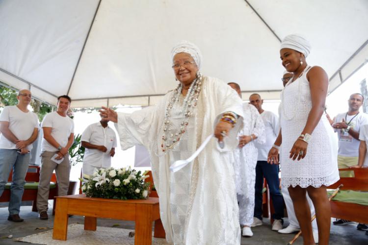 Encontro homenageia 24 sacerdotes de religião de matriz africana de Lauro de Freitas. - Foto: Edgard Copque_Divulgação