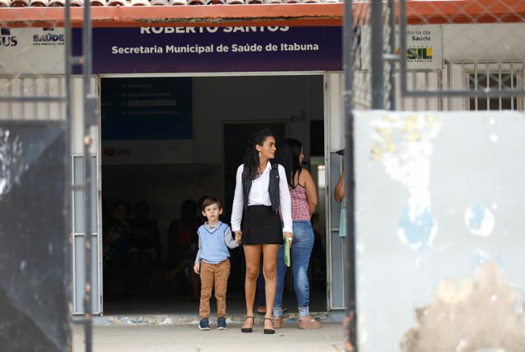 Cirlândia Pinto, que tentou atendimento para o filho Luis Augusto, volta para casa frustrada