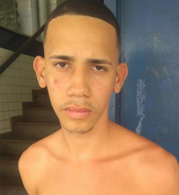 Alisson Santos, 19, foi alcançado pela polícia próximo a linha do trem de Paripe - Foto: Divulgação | SSP-BA