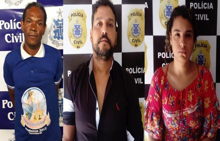 Os três deverão ser encaminhados para o sistema prisional - Foto: Divulgação | Polícia Civil