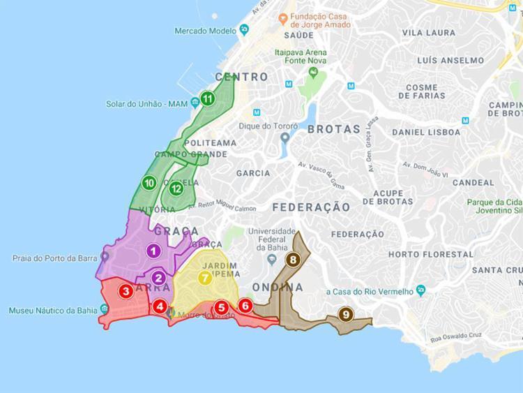 Como em anos anteriores, o Carnaval de 2020 contará com cinco grandes áreas de restrição de circulação de veículos