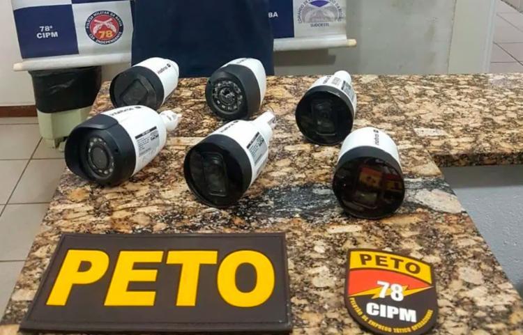 Suspeito confirmou participação no crime e ainda informou onde o material estava - Foto: Reprodução | Blitz Conquista