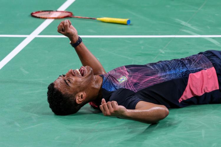 Ygor Coelho começou a jogar badminton em um projeto social de comunidade no Rio de janeiro e hoje treina na Dinamarca - Foto: Abelardo Mendes Jr l Divulgação