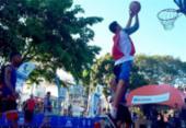 Arena esportiva de basquete e games é montada no Farol da Barra | Foto: Divulgação | Sudesb