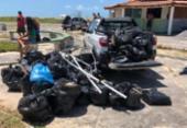 Ação retira 57 sacos de lixo de dos municípios de Caravelas e Alcobaça | Foto: