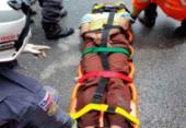 Jovem é resgatado por agentes da PRF na BR-324 | Foto: Divulgação | PRF