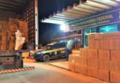 Carga de cigarros contrabandeados é apreendida na Bahia | Divulgação | PRF