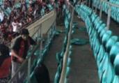 Torcedores do Vitória depredam Fonte Nova após revés | Reprodução | Cidadão Repórter