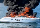 Lancha pega fogo na Baía de Todos os Santos | Marinha do Brasil | Divulgação