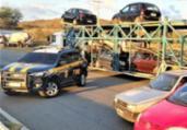 Caminhão-cegonha com carros adulterados é apreendido | Divulgação | PRF-BA