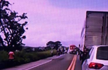 O acidente ocorreu por volta das 8h30 - Foto: Reprodução | Rede Bahia