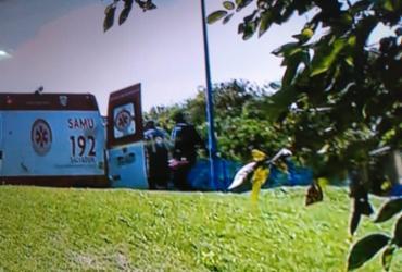 Duas pessoas ficam feridas em acidente na região do Acesso Norte   Reprodução   TV Record