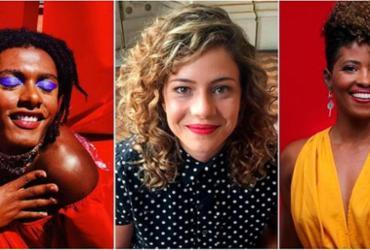 Liniker, Giovana Xavier e Leandra Leal participam do projeto 'Mulher com a Palavra' | Divulgação | Secult