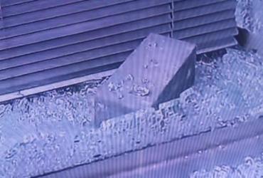 Banco é arrombado na rua Miguel Calmon | Reprodução | TV Record Bahia