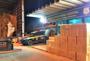 Carga de cigarros contrabandeados é apreendida em Ribeira do Pombal | Divulgação | PRF