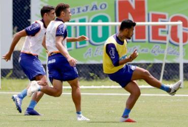 Bahia faz último treino antes de embarcar para Florianópolis | Felipe Oliveira | EC Bahia