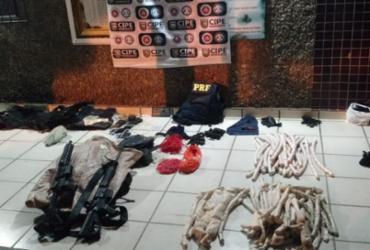 Fuzis e 60 kg de explosivos são apreendidos na Bahia | Divulgação | SSP