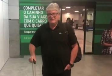 Geninho chega a Salvador e será apresentado nesta sexta-feira | Reprodução l BATV