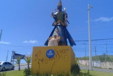 Polícia é acionada após vandalismo contra escultura de Mãe Stella de Oxóssi | Divulgação | Secom