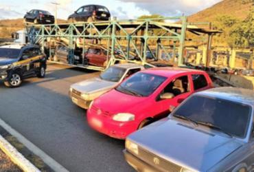 Caminhão-cegonha com carros adulterados é apreendido pela PRF | Divulgação | PRF-BA