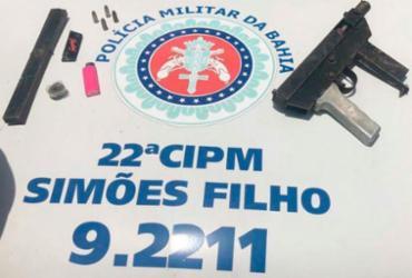 Homem é preso suspeito de ostentar metralhadora na web   Divulgação   SSP