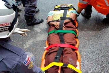 Jovem é resgatado por agentes da PRF na BR-324 | Divulgação | PRF