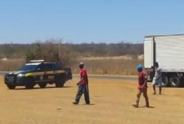 Trabalhadores em condições análoga à escravidão são resgatados em Cristópolis | Divulgação | PRF
