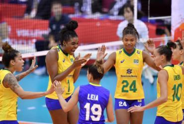 Brasil bate a Sérvia no tie-break e estreia com vitória na Copa do Mundo de vôlei | Divulgação | FIVB