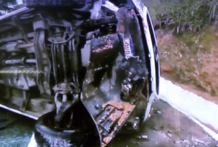 Ainda não há informações sobre o motivo do capotamento - Foto: Reprodução | TV Record Bahia